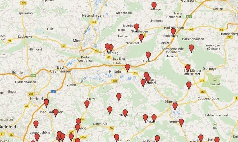 Blitzer Karte.Blitzermarathon Im Weserbergland Mit Interaktiver Karte